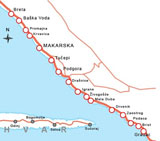 Search accommodation on Makarska  by map